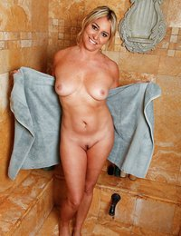 Hot blonde mom with a big..